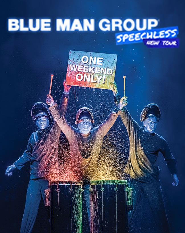 Blue man group donation request