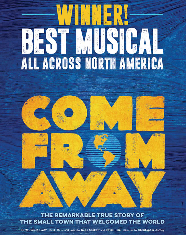 Image result for come from away images